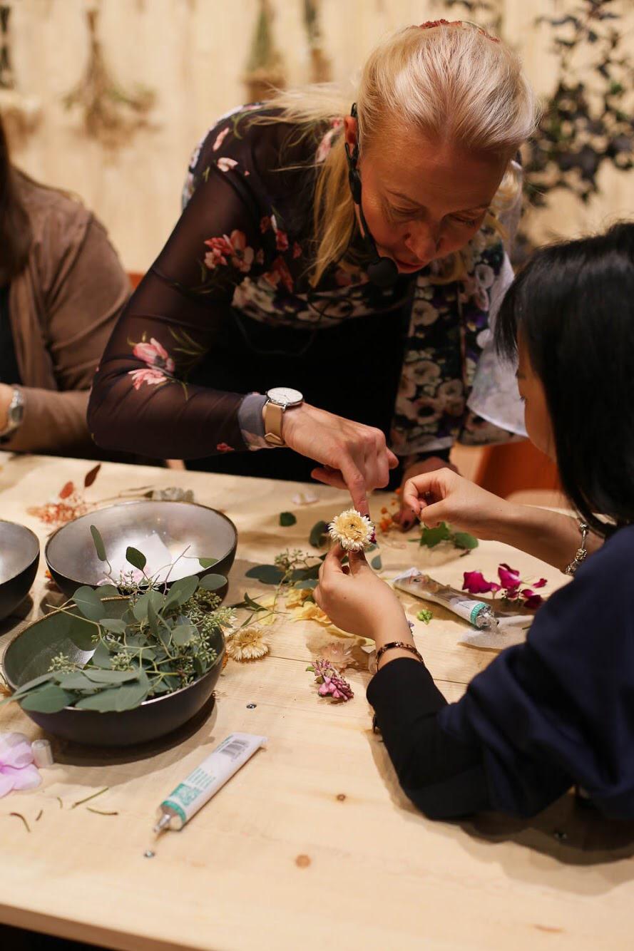 työpaja workshop habitare kukat Järvenpään kukkatalo