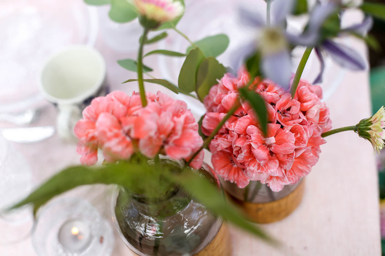 Lohenpunainen on ehkä kuvaavin sana tälle pelargonian sävylle. Pelargonian kukinto kestää oikein hyvin myös maljakossa.