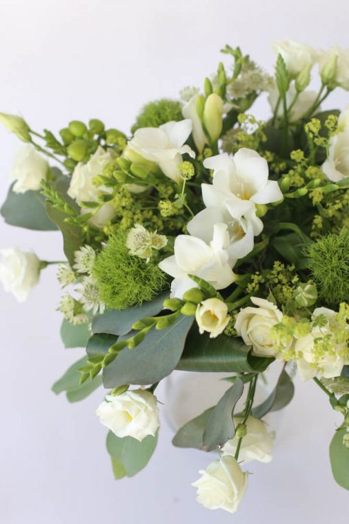 Kesäkimppu vihreä-valkoinen
